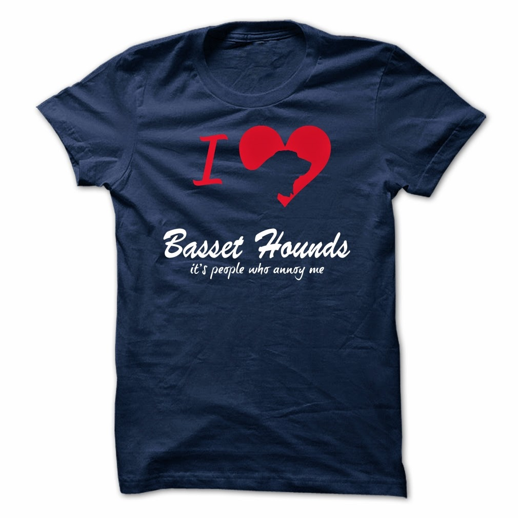 i love my basset hound shirt