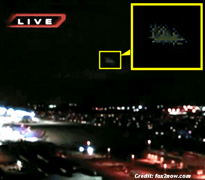 Ufo captured on video during a st louis newscast video