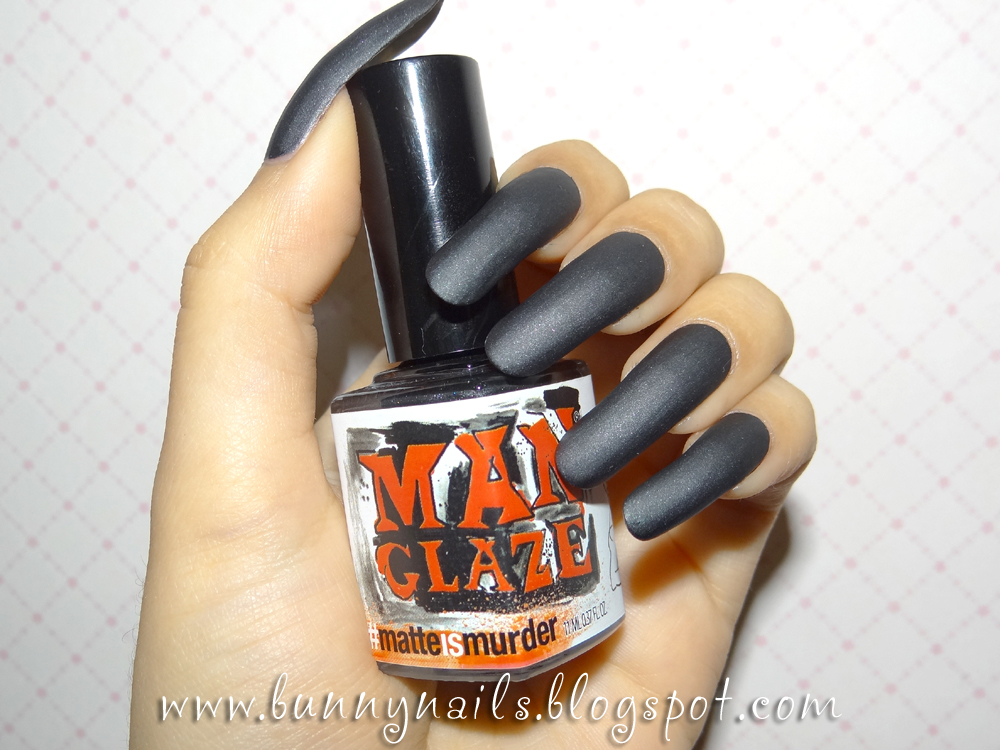color nail polish: Man Glaze - Matte is Murder - Review & Swatches