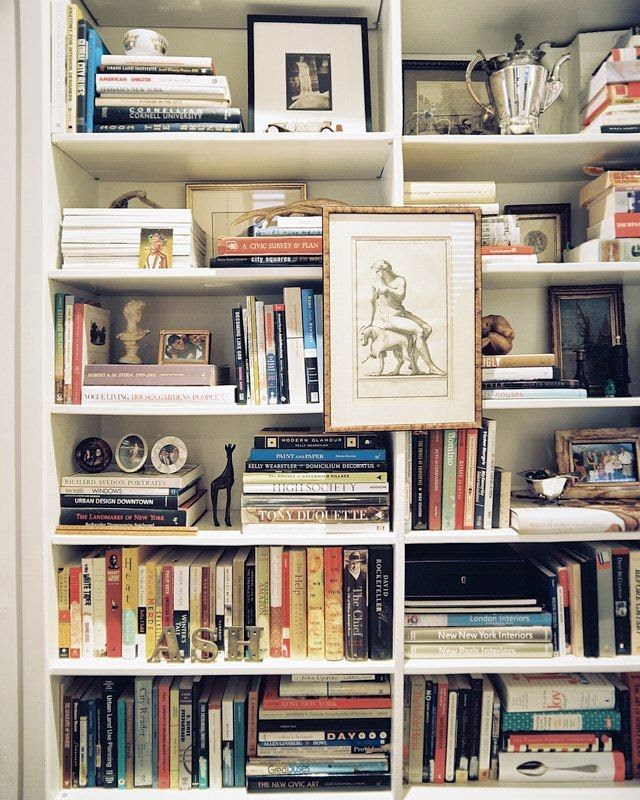 ethnic cottage decor - Bookshelf Decor