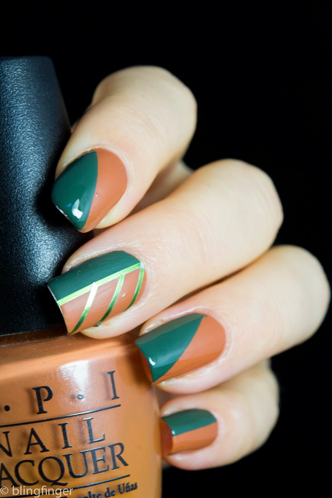 Nail Polish Designs Two Colors Creative Touch