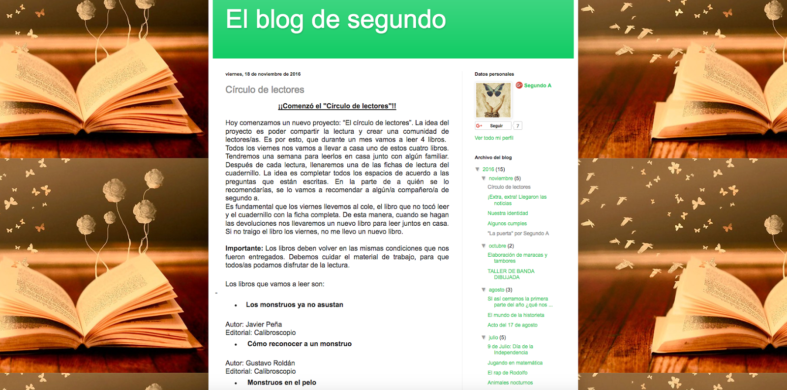 BLOG SEGUNDO GRADO - 2016