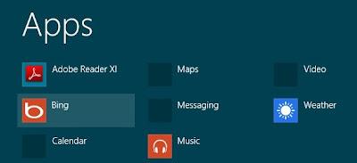 bing app on Windows 8