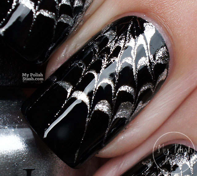 drag marble spider web nails