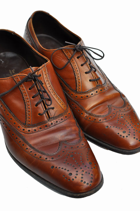 goodbye vintage vintage wingtips leather shoes