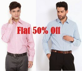 Min 50% discount on Men's Formal Shirts starts from Rs.349 @ Myntra