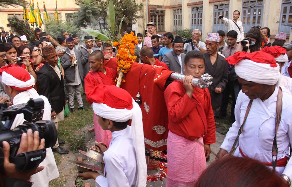 fulpati day of dashain celebrtion