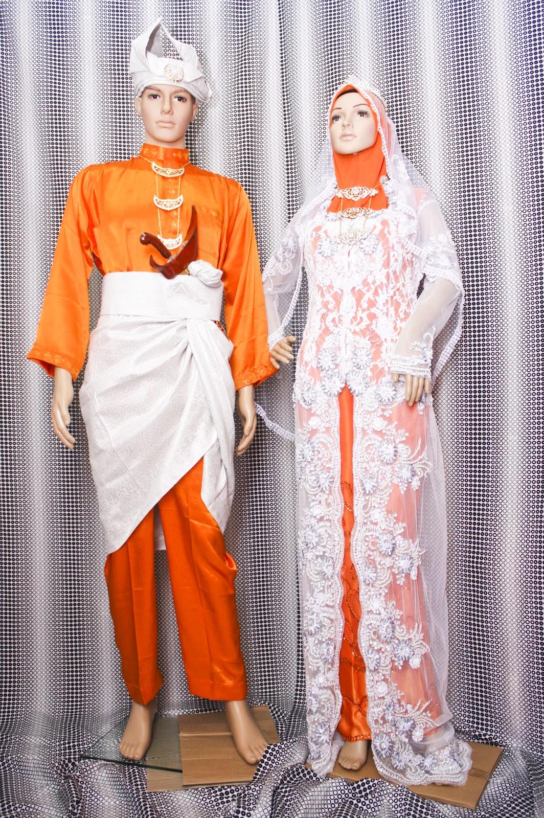 Sewa pakaian atau busana atau baju pengantin songket, dan lace untuk ...
