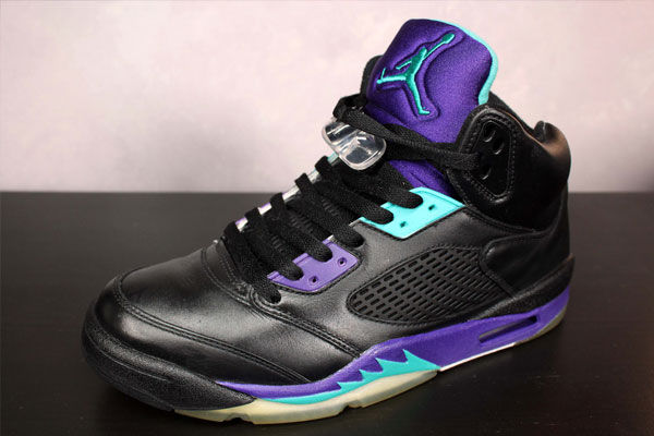 Retro Jordans 5 Black Grapes Retro Air Jordan v — Black