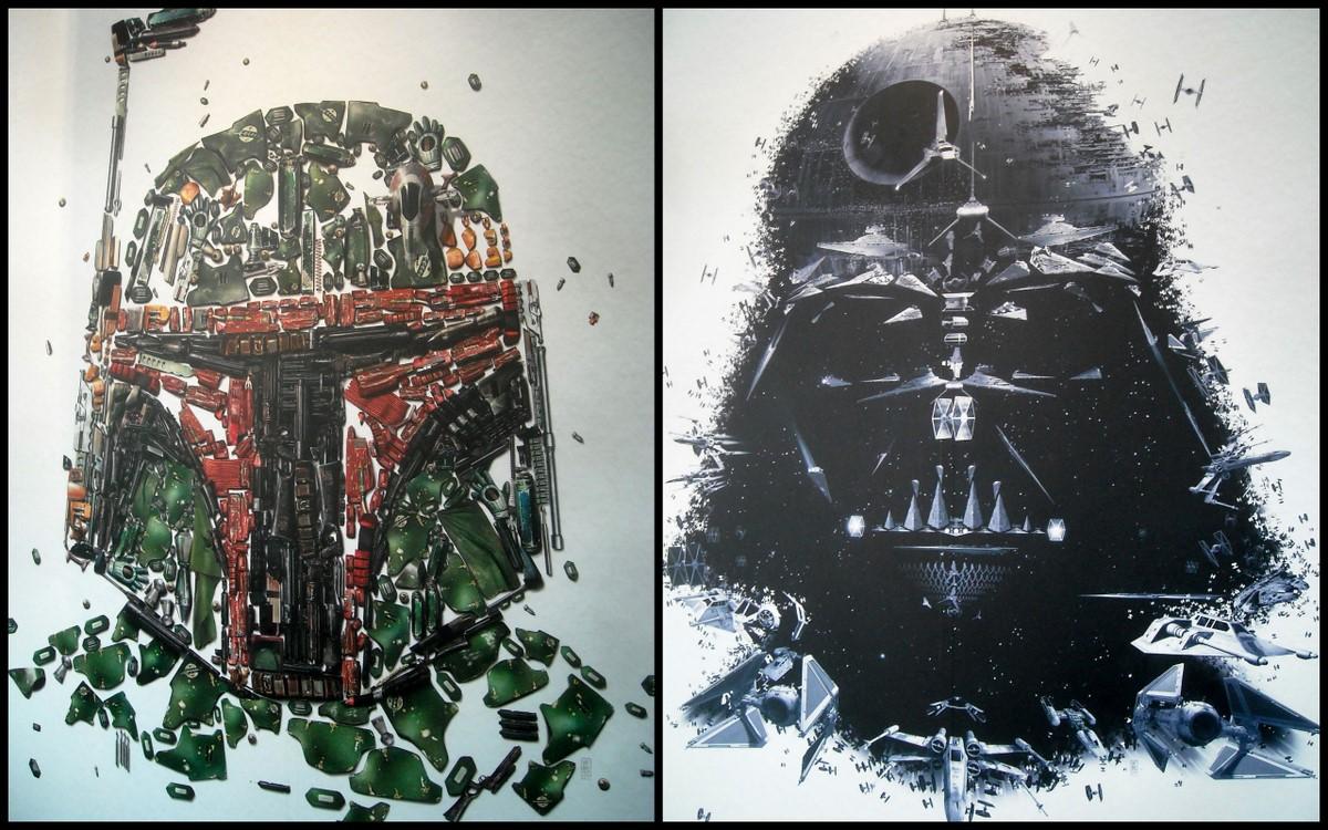 tableau peinture star wars