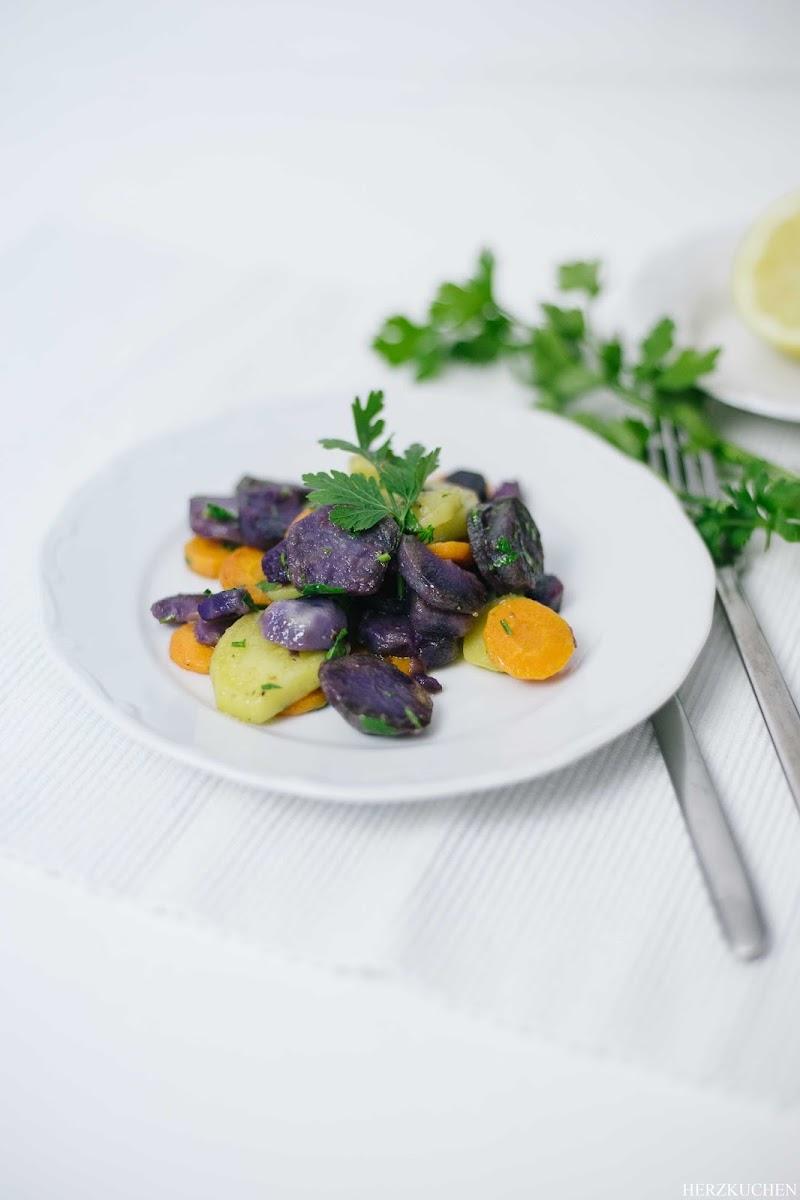 Lauwarmes Kartoffel-Zitronen-Gemüse