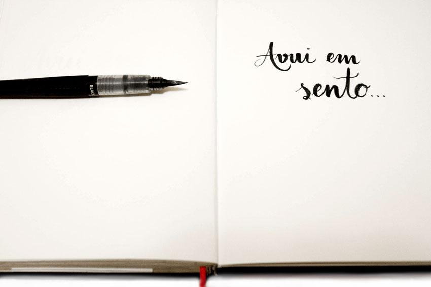 Foto d'entrada pel post del nou projecte Avui em sento... Foto i cal·ligrafia ©Imma Mestre Cunillera.