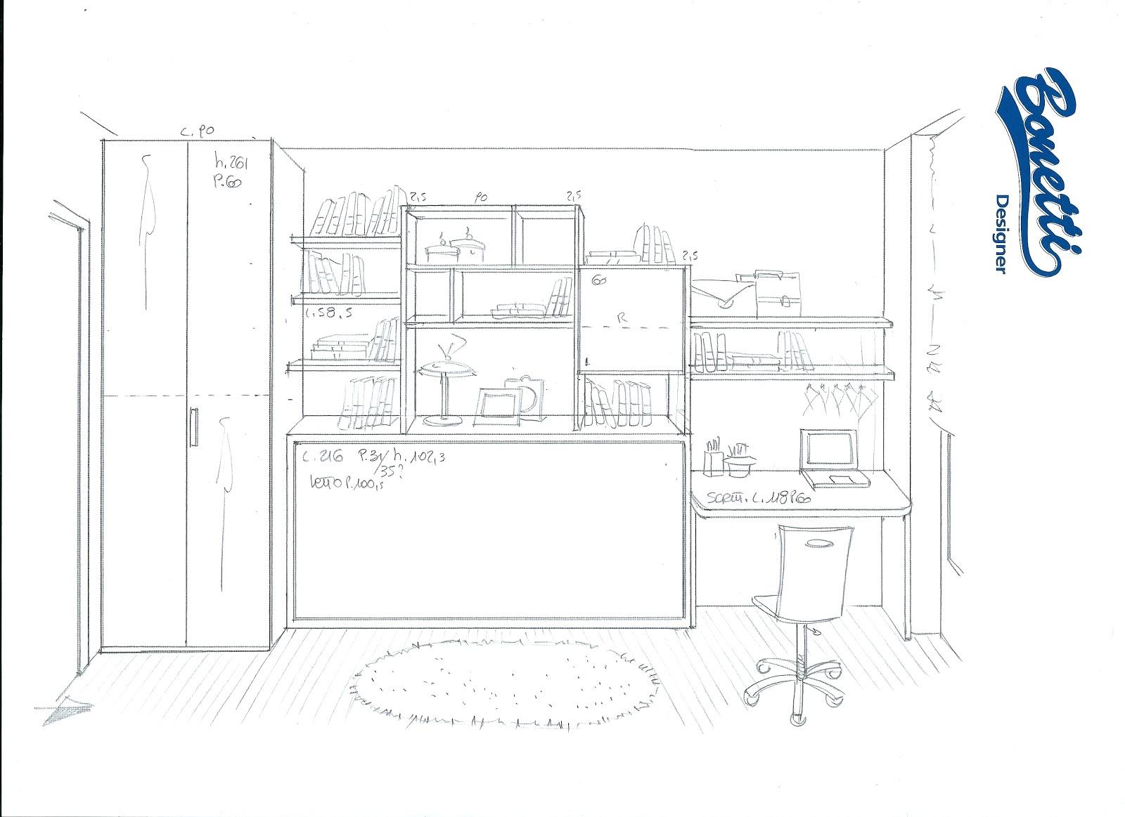 Bonetti camerette bonetti bedrooms progetti camerette for Progettare camera da letto