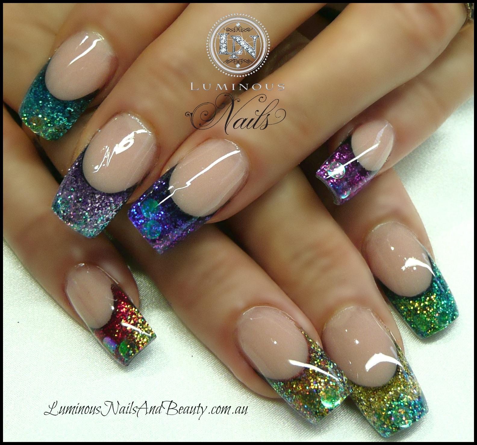 Acrylic Nails: Luminous Nails: November 2012