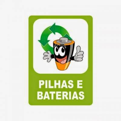 Pilhas e baterias usadas: