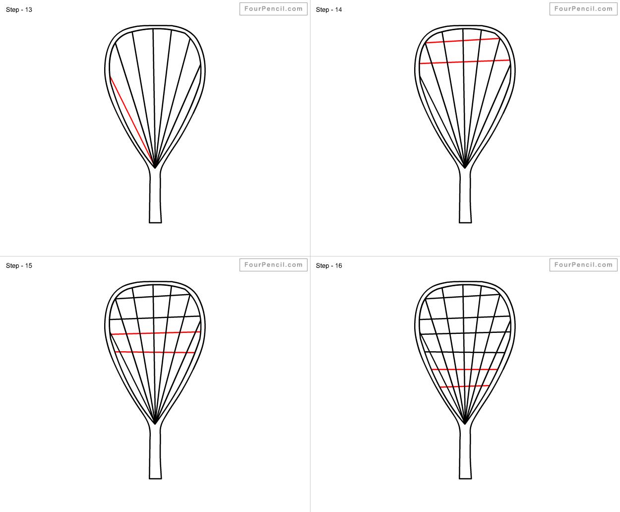 Tennis racket drawing