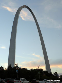 Swirls and Sprinkles crochet blog at St. Louis arch