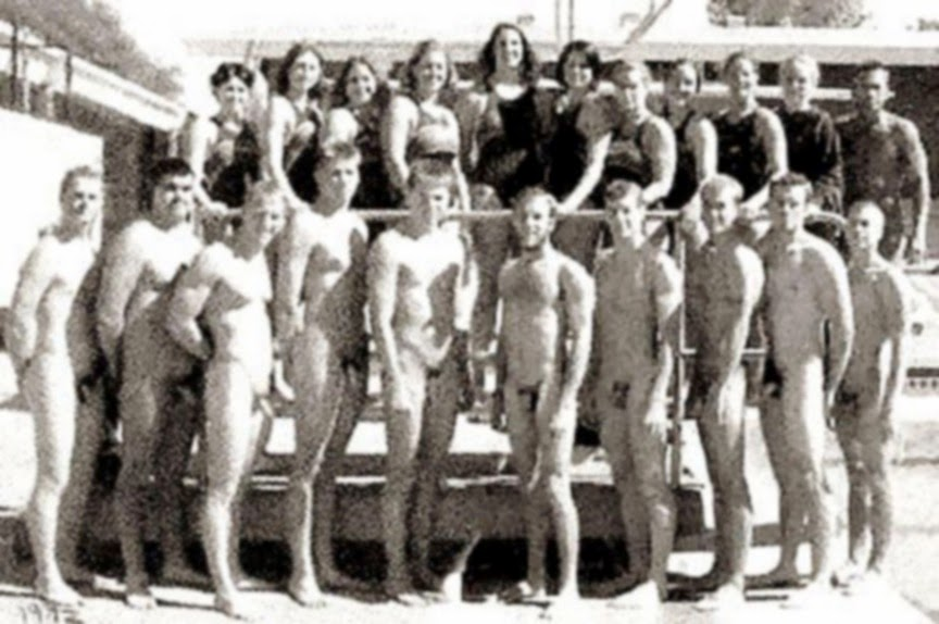 Ymca Vintage Nude Male Swimming