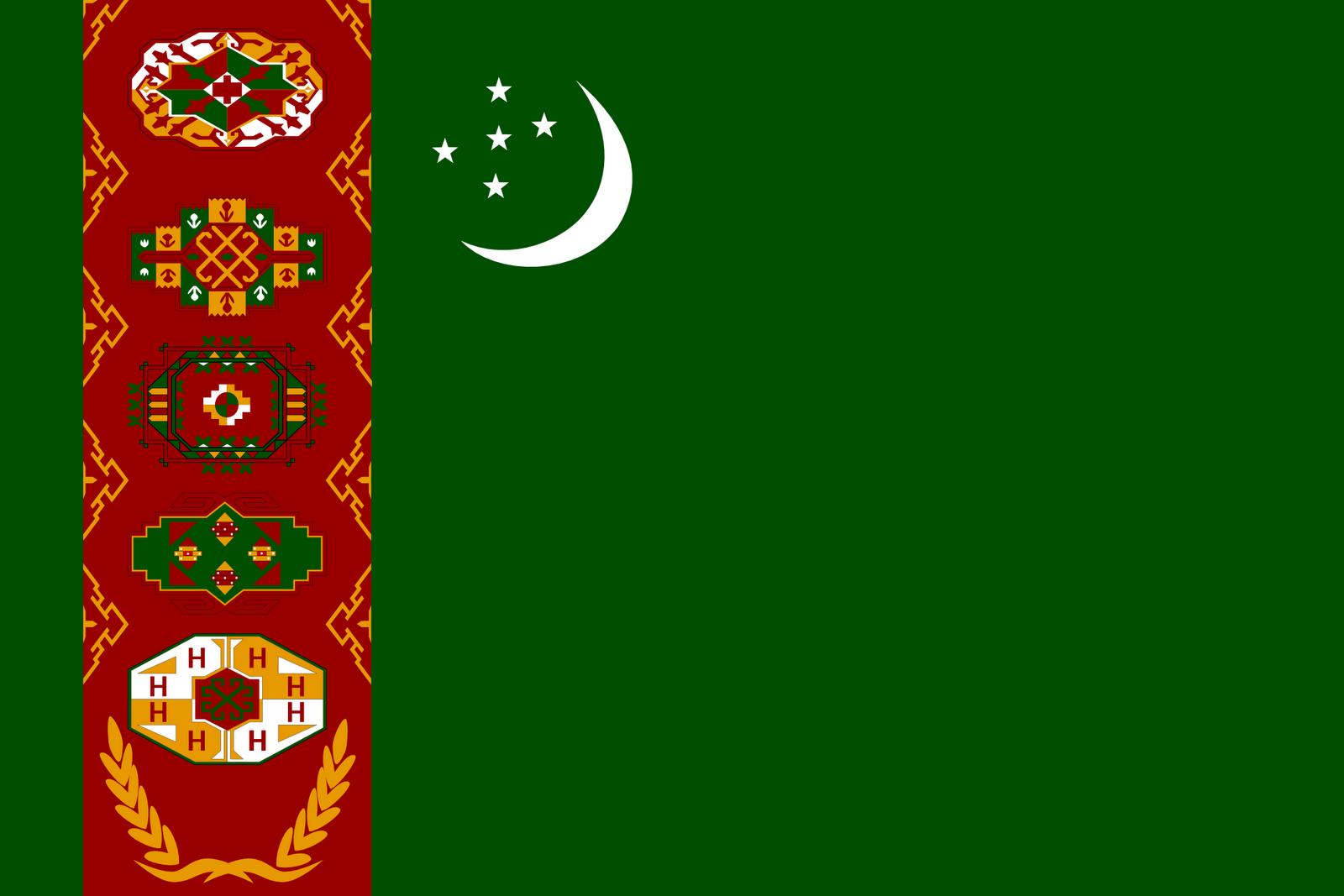 Turkmenistan Flag Pictures