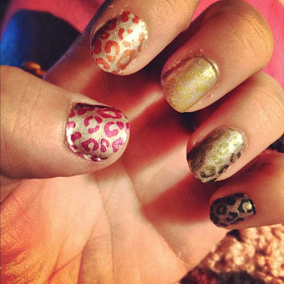 Sally Hansen Leopard Nails