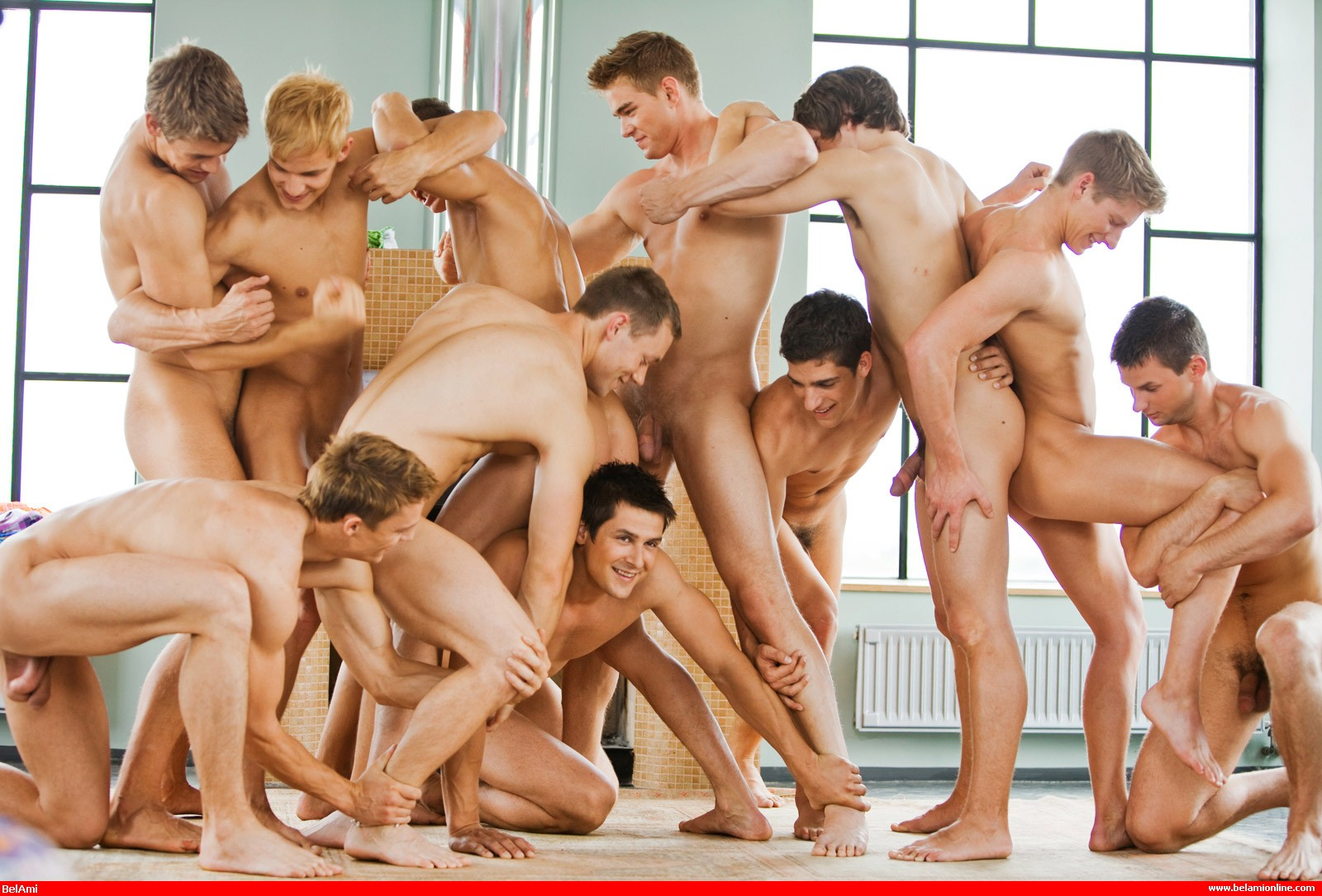 Teen group of naked boys blonde muscle 5