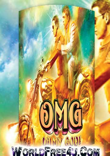 Poster Of Bollywood Movie OMG Oh My God (2012) 300MB Compressed Small Size Pc Movie Free Download worldfree4u.com