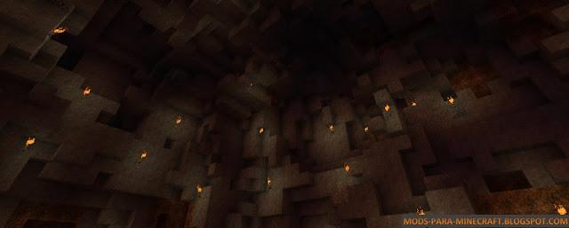 En esta imagen se puede apreciar las vistas de las minas con el resource pack Z Craft