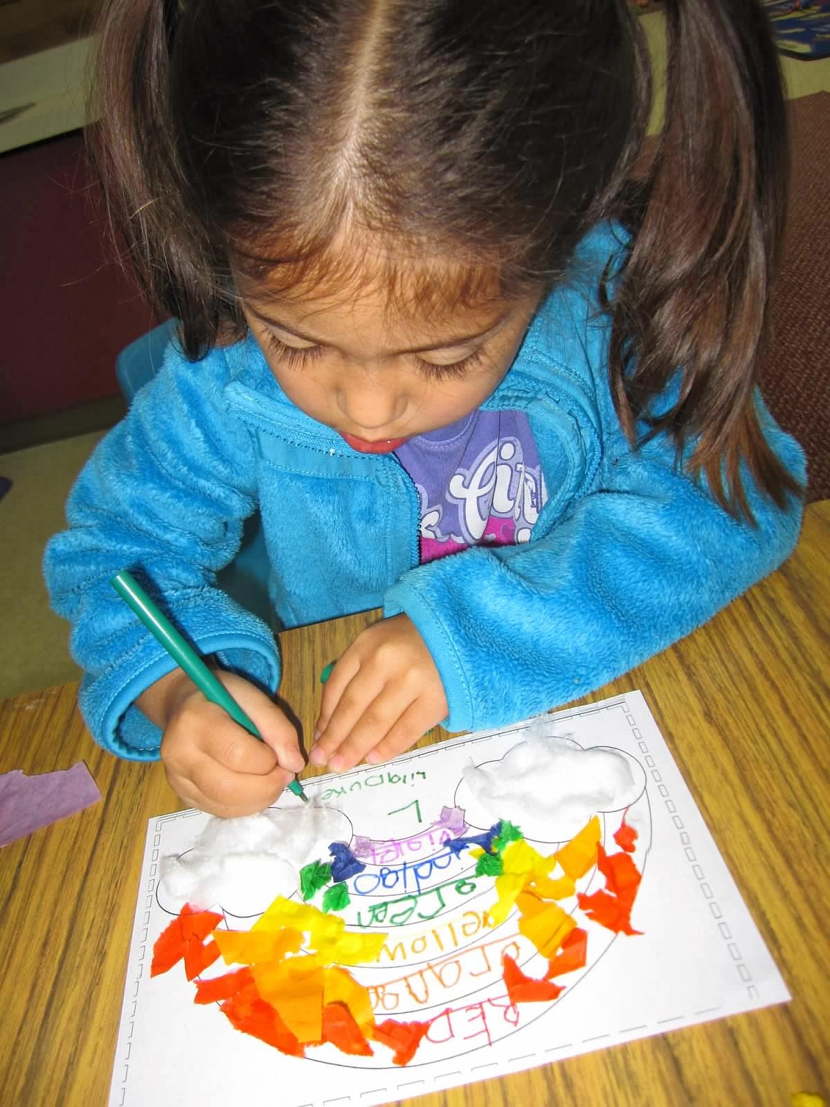 preschool colors rainbow art project