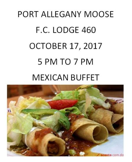 10-17 Port Moose Mexican Buffet