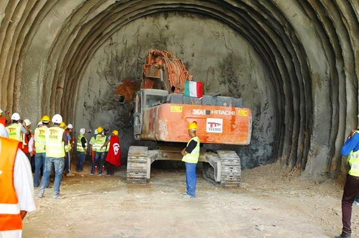 Photos du tunnel Saida Manoubia achevé