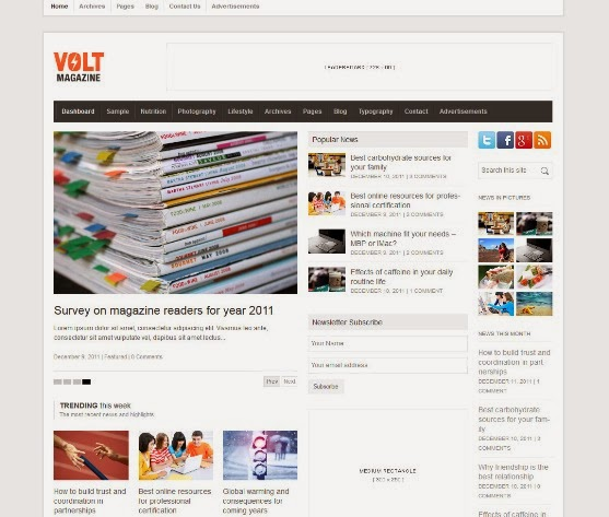 Volt - Magazine and Editorial WordPress Theme