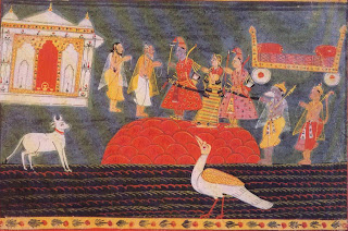 Illustration from a Ramayana Series: Rama Visits Bharadvaja's Hermitage