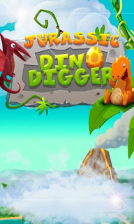 Screenshots of the Jurassic dino digger for Android tablet, phone.