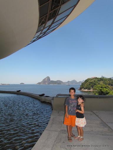 Uma vista incrível da Baía de Guanabara