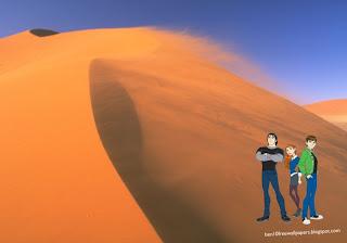 Desktop Wallpapers Ben 10 Ten and Friends in Desert Wind desktop wallpaper