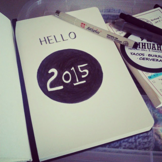 My Sketchbook says Hello 2015!