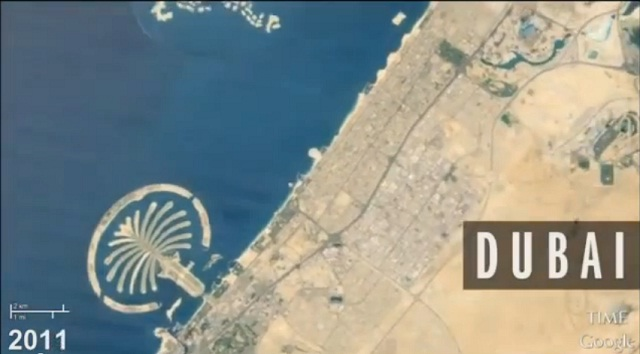 Video Timelapse - Perubahan muka bumi dari angkasalepas