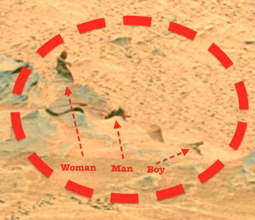 New photo found revealing same woman figure on mars ufo sighting news