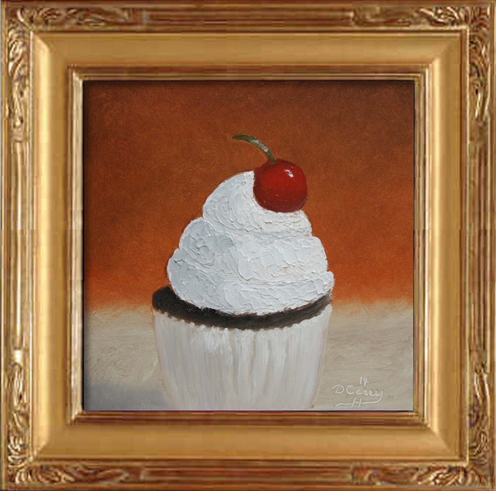 Kitchen Painting - Cupcake 001a 6x6 oil on gessobord - Dave Casey - TheDailyPainter.jpg