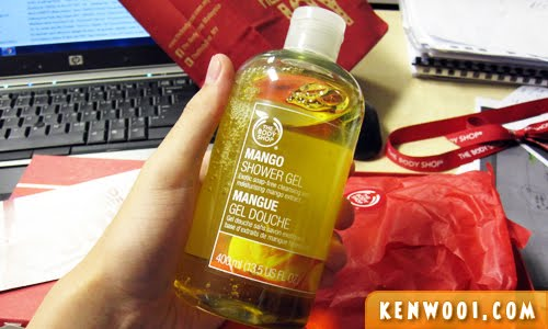 body shop mango shower gel 1