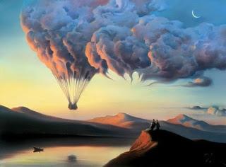 Os humanos inventaram a realidade-  balão feito de nuvens