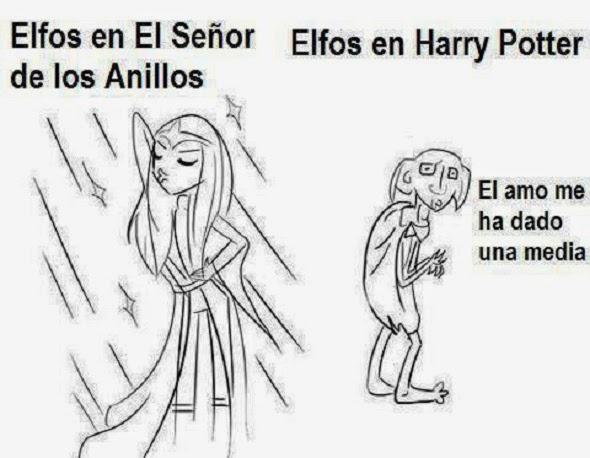 Señor de los anillos vs Harry Potter