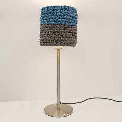Crochet lampshade by Welaughindoors