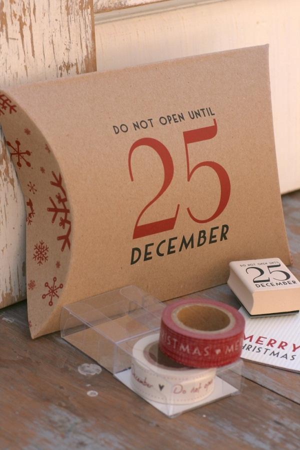 Embrulho de presente para o Natal - Não abra até 25 de dezembro