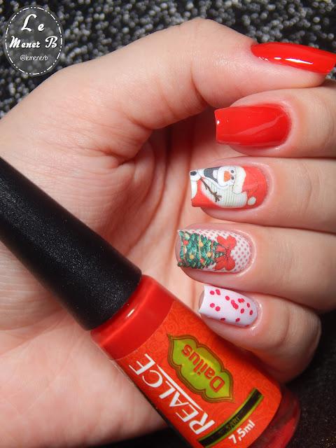 nail art para natal