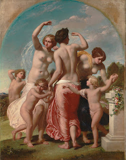 The Three Graces (1856) by the British Painter William Edward Frost (1810–1877)