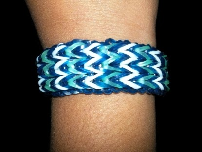 Triple fishtail band,bracelet,Rubber,band