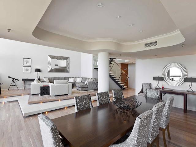 Modern penthouse living room