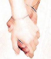 mano de hombre y mujer
