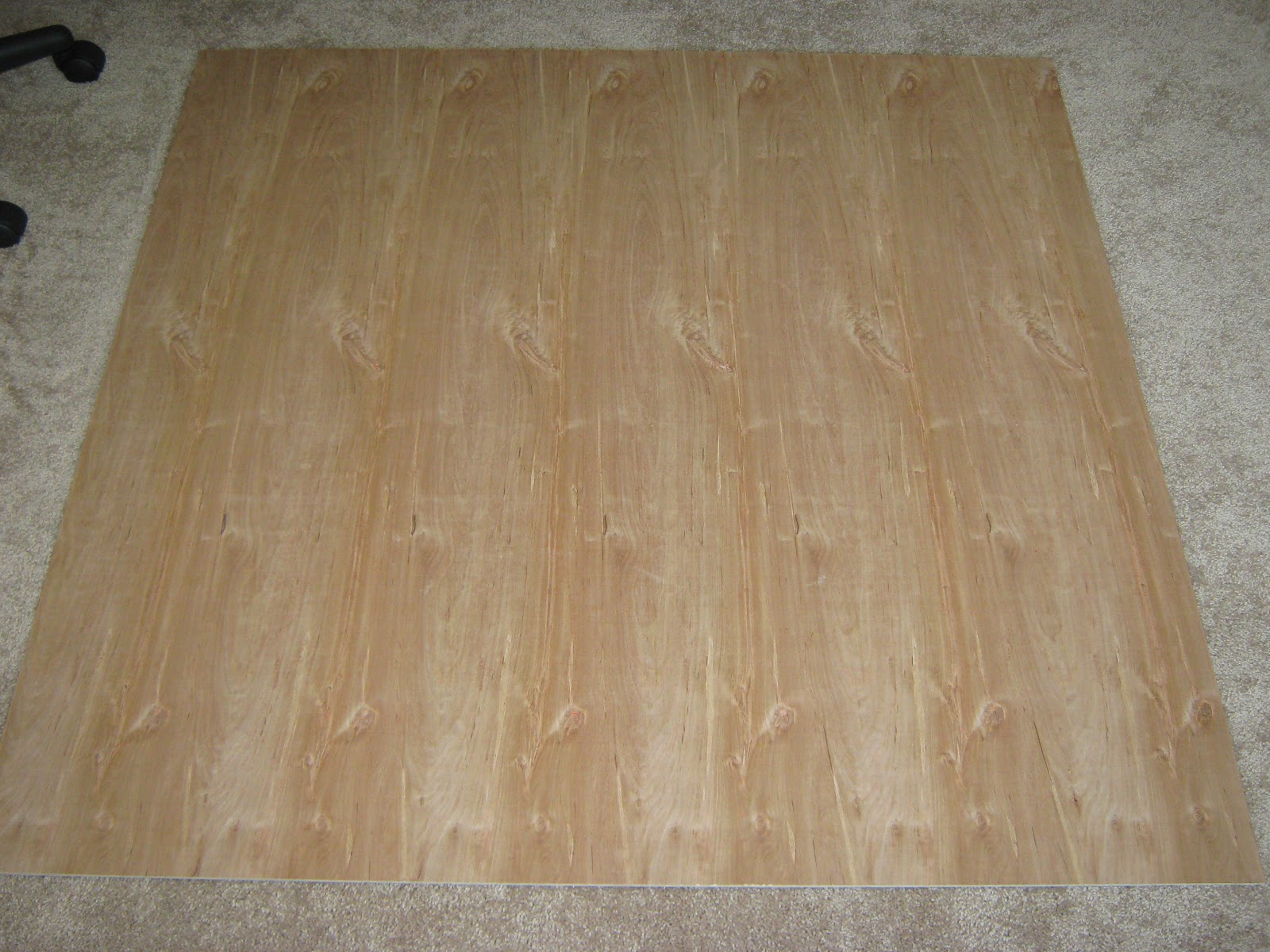 FakeIt Frugal DIY Wooden Office Chair Mat - Computer chair mat for carpet